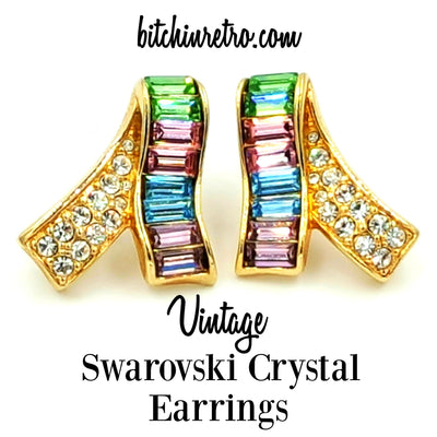 Swarovski Crystal Vintage Pastel Earrings at bitchinretro.com