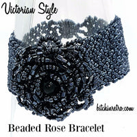 Beaded Rose Bracelet With Victorian Style