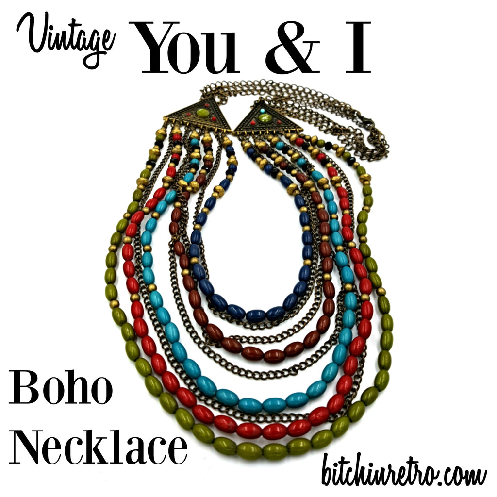 You and I Bohemian Stranded Necklace at bitchinretro.com