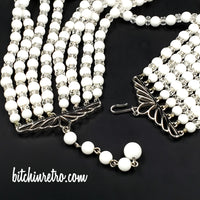 Vintage Beaded Statement Necklace at bitchinretro.com