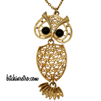 "Sarah Coventry 1974 ""Nite Owl"" Vintage Necklace"