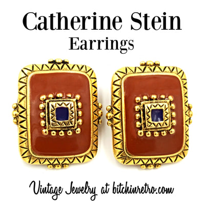 Catherine Stein Vintage Earrings at bitchinretro.com