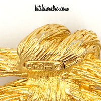 Christian Dior Vintage Rope Brooch at bitchinretro.com