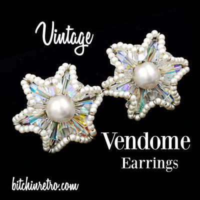 Vendome Vintage Earrings and Book Piece at bitchinretro.com