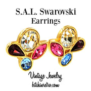 SAL Swarovski Vintage Earrings at bitchinretro.com