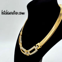 Givenchy Vintage Rhinestone Necklace at bitchinretro.com