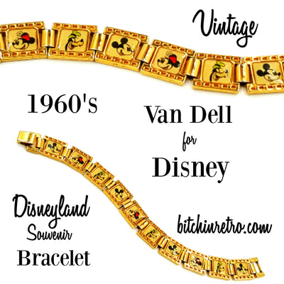 Van Dell for Disney 1960's Disneyland Souvenir Bracelet at bitchinretro.com