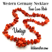 Western Germany Faux Lava Rock Necklace at bitchinretro.com