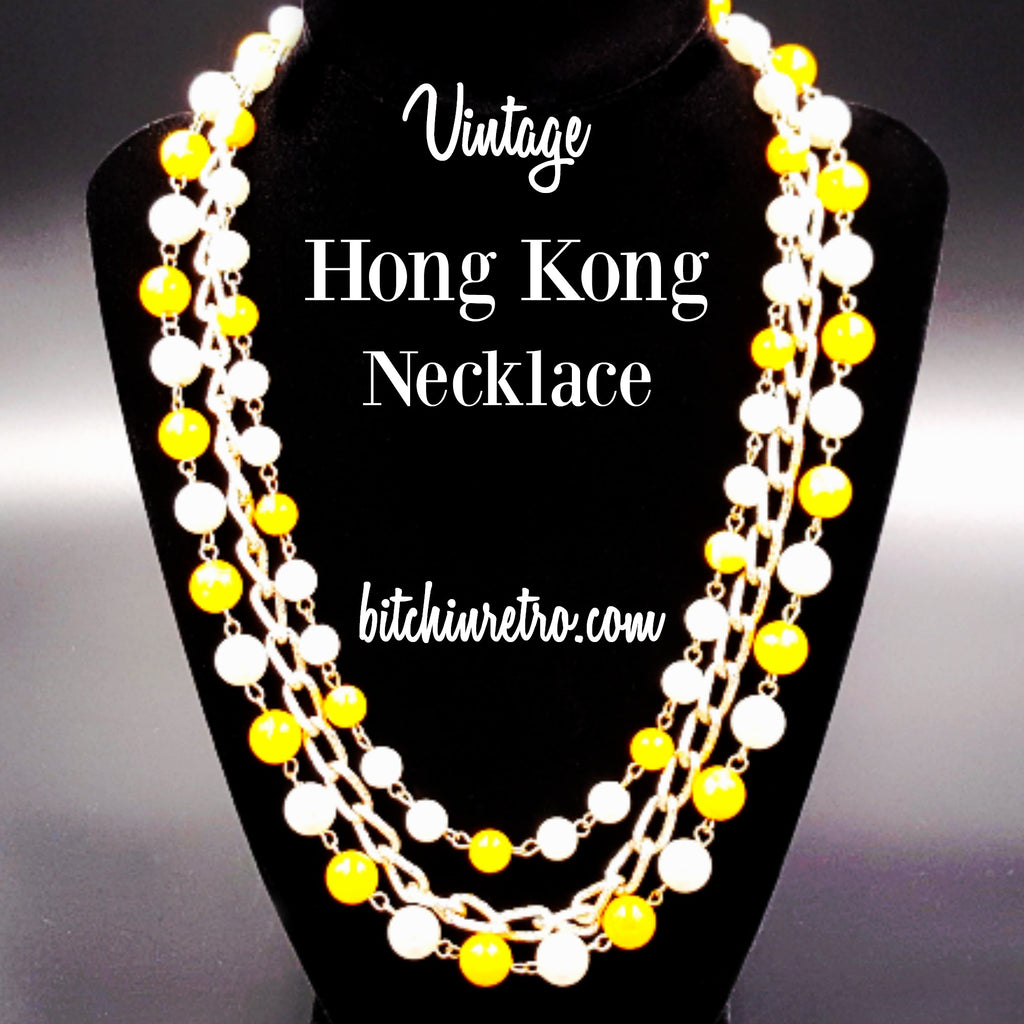Hong Kong Vintage Beaded Necklace at bitchinretro.com