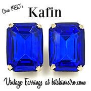Kafin Vintage Earrings Circa 1950's at bitchinretro.com