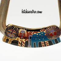 Laurel Burch Vintage Mythical Menagerie Necklace at bitchinretro.com