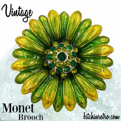 Monet Vintage Brooch at bitchinretro.com