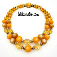 Vintage Moonglow Beaded Necklace at bitchinretro.com