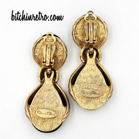Oscar de la Renta Vintage Earrings at bitchinretro.com
