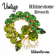 Vintage Rhinestone Brooch at bitchinretro.com