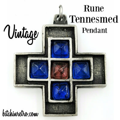 Vintage Rune Tennesmed Pendant at bitchinretro.com