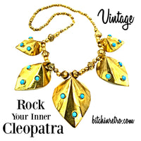 Vintage Cleopatra Statement Necklace at bitchinretro.com