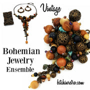 Bohemian Jewelry Ensemble at bitchinretro.com