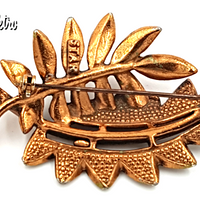 Star Jewelry Mid Century Modern Copper Brooch at bitchinretro.com
