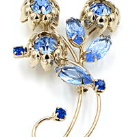 Art Deco Rhinestone Brooch at bitchinretro.com