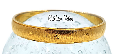 Monet Starburst Etched Bangle Bracelet at bitchinretro.com