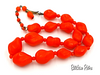 West Germany Vintage Art Glass Beaded Necklace at bitchinretro.com