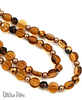 Vintage Esmor Necklace With Brown and Pale Copper Glass Beads