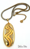 Lisner Vintage Pendant Necklace On Snake Chain with Groovy Mod Style