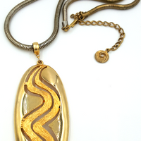 Lisner Vintage Pendant Necklace With Mod Vibe at bitchinretro.com