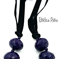 Gothic Purple Beaded Necklace for Halloween Costumes @ bitchinretro.com