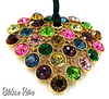 Graziano Austrian Crystal Pendant Necklace in Stunning Multi Colors