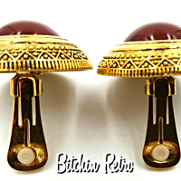 Ginnie Johansen Egyptian Revival Cabochon Earrings at bitchinretro.com