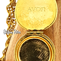 Vintage Avon Perfume Locket Necklace and Bracelet