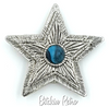 Hilco Vintage Star Pendant and Brooch with Turquoise Glass Cabochon