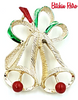 Gerry's Christmas Bells Brooch, Vintage Holiday Pin
