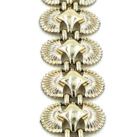 Coro Pegasus Vintage Bracelet with Art Deco Sunburst Pattern and Style