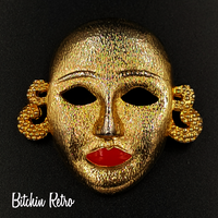 MJent Vintage Mask Brooch at bitchinretro.com