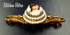 Florenza Limoges Hand Painted Cameo Bar Pin at bitchinretro.com