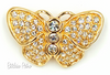 Vintage Swarovski Crystal Butterfly Brooch With Original Tag