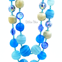 Shades of the Caribbean Art Glass Necklace at bitchinretro.com