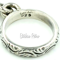 GeoArt Sterling Silver Ring by Cynthia Gale ChaCha Raised Neutron Design