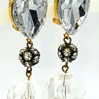 Les Bernard Designer Rhinestone Earrings at bitchinretro.com