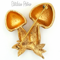 Napier Mushroom Brooch at bitchinretro.com