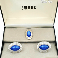 Swank Cufflink and Tie Pin Set in Original Box at bitchinretro.com