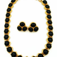 Monet Necklace and Earring Set - Vintage Jewelry at bitchinretro.com