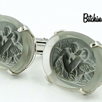 Swank Arts of The World Leda and the Swan Cufflinks at bitchinretro.com