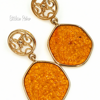 Sarah Coventry Taste of Honey Necklace and Earring Set @ bitchinretro.com