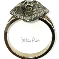 1995 EJC Wolf Ring With Game Of Thrones Vibe at bitchinretro.com