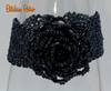 Gothic Black Rose Beaded Bracelet at bitchinretro.com