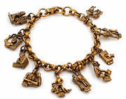 Coro Bracelet Vintage Ten Commandments Charms Published Book Piece Christianity